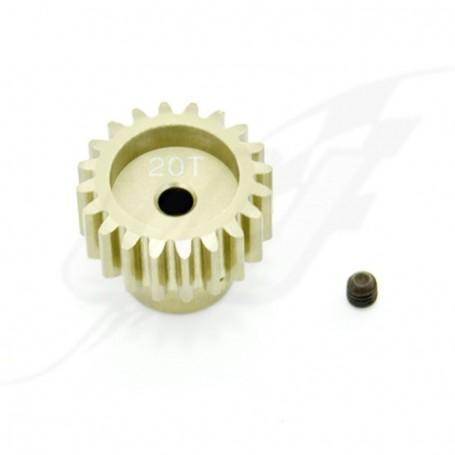 PIGNONE ROCKET 32DP 16T DENTI MODULO 0.8 ALBERO 3.175mm  ALLUMINIO 7075 VRX